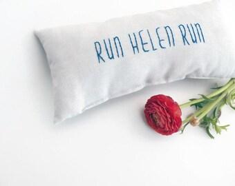 "Running Gifts - Personalized Gifts for Runners - Marathon Gift Idea - Small Lumbar Pillow - Running Decor - Run ""Your Name"" Run - 12X6"""