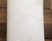 White 100% Tooled Leather Revised New World Translation Bible Cover