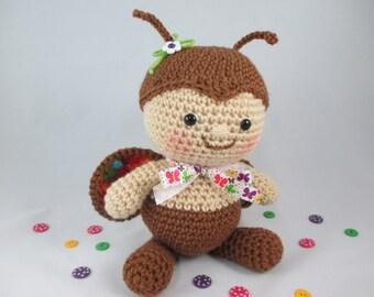 Crochet Butterfly Plush, Crochet Stuffed Butterfly , Crochet Shower Gift, Toy Butterfly, Amigurumi Butterfly, newborn photo prop