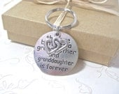 """Key Chain """" The love between a grandmother and granddaughter."""