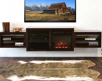 Wall Mount Entertainment Center Eco Geo Espresso By
