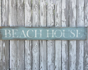 Beach House Sign, 70 Color Options, Wood Beach Sign, Beach Wood Sign, Cape Cod Sign, Vineyard Sign, nautical sign, By The Sea Sign,