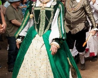 Elizabethan Style Court Gown: Complete outfit, Made to Order