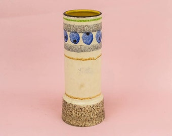 Ceramic Vintage Abstract Dish Cylinder VASE Modernist Charming Small Unique German 1970s LS