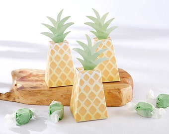 24 Pineapple Favor Boxes Funky Hawaiian wedding or Luau bridal shower Party Favors