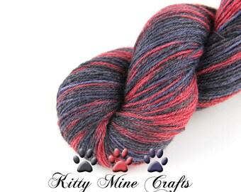 Phat Fiber Sock Yarn - Galaxy - 60/ 30/ 10 blend Superwash Merino Wool, Bamboo & Nylon - 4oz/ 113g - 430yds/ 393m - May 2016 Space