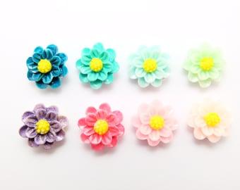 flower earring studs