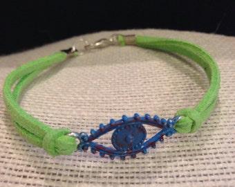 Blue&Lime EvilEye Bracelet