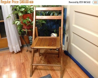 25% off sale Wood Folding Chair Vintage Wood Chair