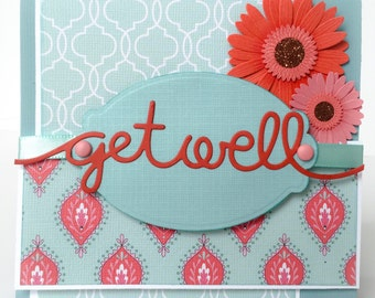 Handmade Get Well Card, Get Well, Illness Card, Recovery, Get Well Soon, Accident, Sickness, Illness, Ferl Better Soon