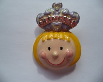 Vintage Signed Danecraft Sparkling Princess Brooch/Pin
