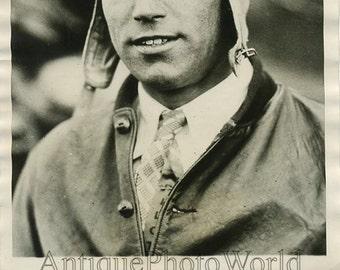 Pilot aviator John Livingston antique photo