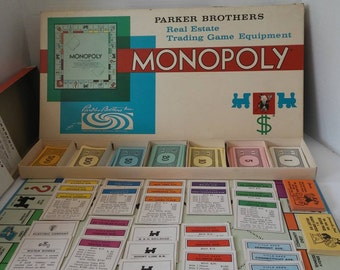 1961 Monopoly Board Game, Complete