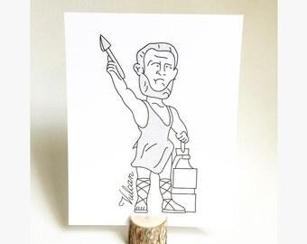 Vulcan Illustration | Birmingham Poster  |  Vulcan  |  Birmingham, Alabama
