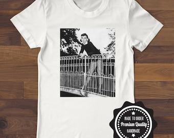 Audrey Hepburn T Shirt White, Gray, Black