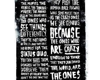 Think Different / Crazy One's framed poster