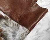 Cowhide Leather Shopper