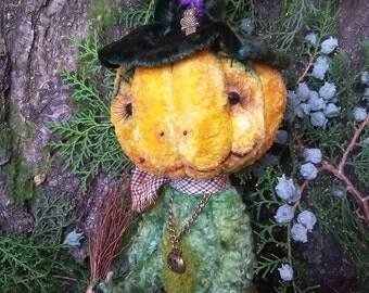 Art  ooak Mr. Pumpkin (teddy)