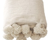 """118""""78"""" Moroccan 100 % wool blankets woven by hand  / moroccan wool throw"""