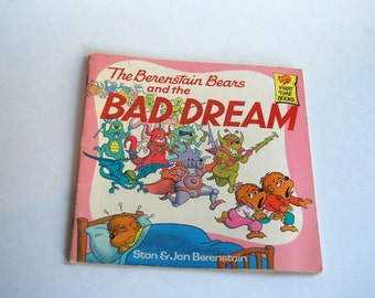 Vintage Children's Book, The Berenstain Bears and the Bad Dreams