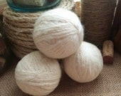 Three Natural Triple Felted 100% Wool Dryer Balls