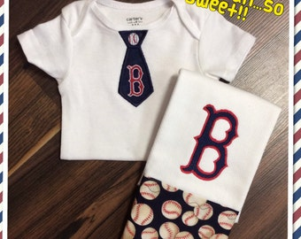 Baby Gift- Burp cloth and onesie