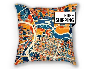 Sacramento Map Pillow - Ca Map Pillow 18x18