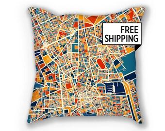 Riyadh Map Pillow - Saudi Map Pillow 18x18