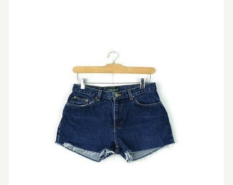 STORE WIDE SALE Free Shipping!! Ralph Lauren Cut off  Denim Shorts from 90's/W26*