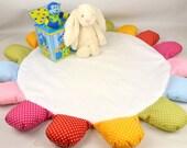 Nursery decor,Nursery rug, quilted floor mat, tummy time mat, toddler story time mat new baby, christening, baby shower gift handmade in UK