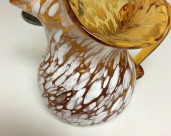Hand blown Amber Glass Creamer  New Low Price~