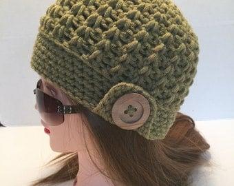 Crochet Beanie, Downton Abbey, Branson, Teen/Womens, One Size Fits Most