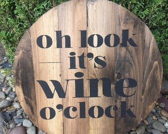 Oh look - it's wine o'clock