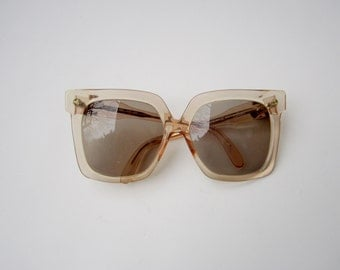 Vintage Oversized Silhouette Eyeglasses / Sunglasses, Made in Austria Mod 598