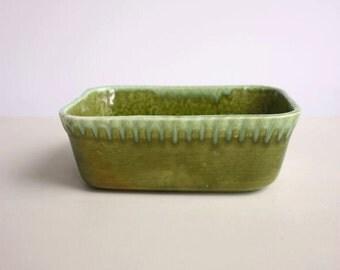 Green Ceramic Butter Dish
