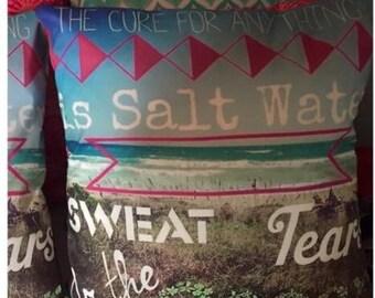 Salt Water Cure 16x16 pillow