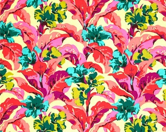 Bright Heart Tropi Canna Peach - One Yard - Amy Butler Fabric