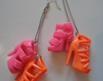 Barbie Shoe Earrings
