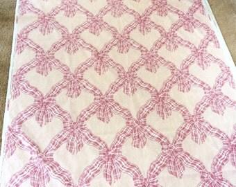 4 Yards Fabric Pink Plaid Ribbon Bows Boblyn Austin P Kaufmann