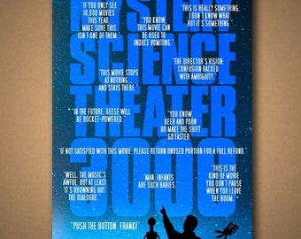 MYSTERY SCIENCE Theater 3000 Quotes Poster