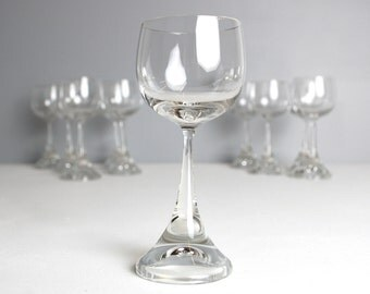 S/10 Rosenthal Wine Glasses, Vintage Crystal Wine Glass, Hand Blown Glass, Mid Century Modern, Retro, Hand Blown Glasses
