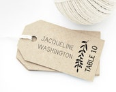 Escort Card Tag Template, Laurel design, MEDIUM size, Seating Cards, Place Cards, Hang Tags, Thank You Tag, Favor Tag, Wedding Gift Tag