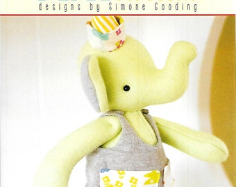 Pattern ''Pockets'' Elephant, Stuffed Toy, Fabric Soft Sculpture Sewing Pattern by May Blossom (MB095)