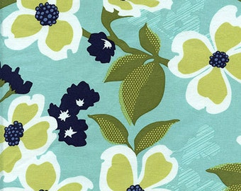 Modern Meadow Dogwood Bloom in Pond by Joel Dewberry for Free Spirit Fabrics JD031- Half Yard or By the Yard