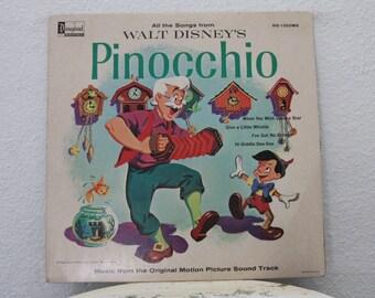 "Walt Disney's ""Pinocchio"" vinyl record"