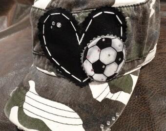 Soccer LOVE Camo cadet Hat
