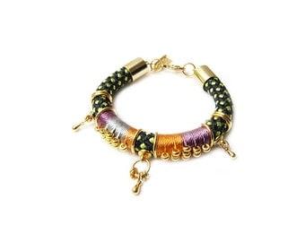 DALI - ethnic rope bracelet, african bracelet, colorful bracelet, hippie bracelet, colorful jewelry, edgy bracelet, rope jewelry,tribal boho