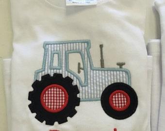 Boys tractor shirt