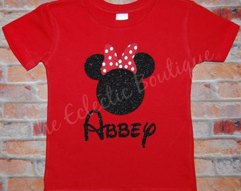 Personalized Minnie Mouse T-shirt