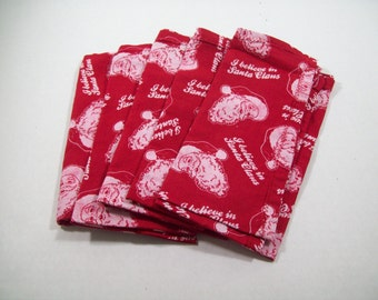 Santa Claus is coming to town napkins/ set of five napkins/